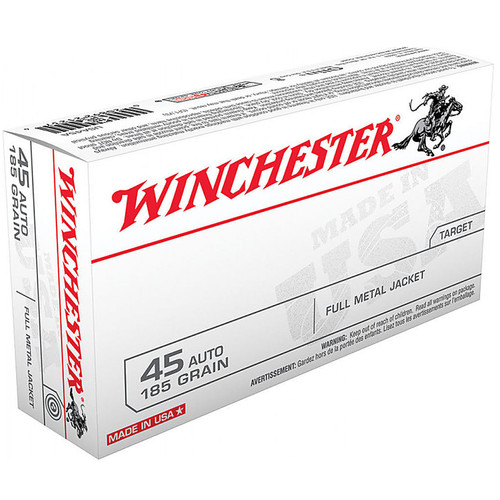 Winchester USA45A USA 45ACP 185 GR FMJ 50 Rounds