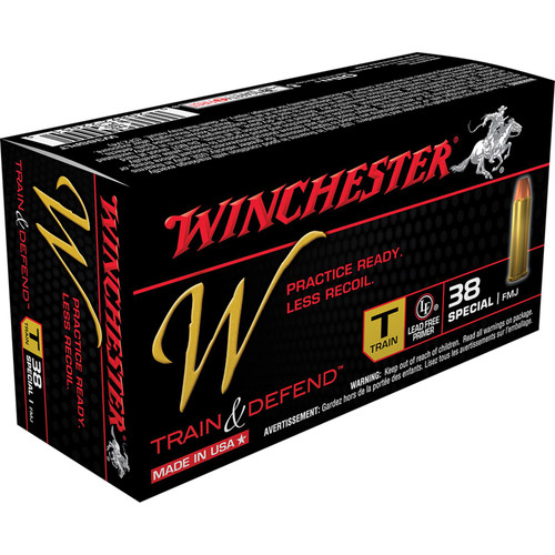 Winchester Ammo W38SPLT W Train And Defend 38 Special 130 GR Full Metal Jacket FMJ 50 Box