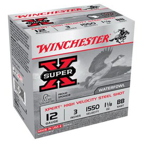Winchester Ammo WEX123BB Super X Xpert High Velocity 12 Gauge 3 1 18 oz BB Shot 25 Box