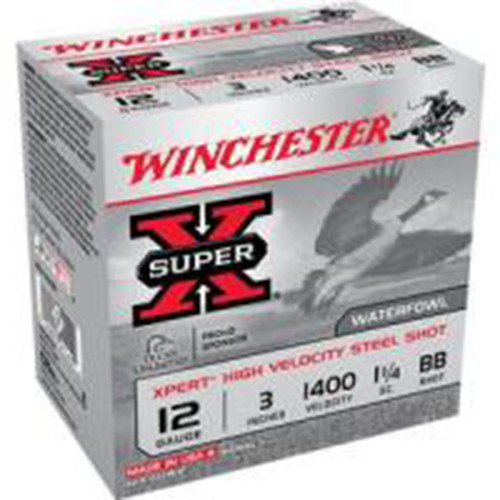 Winchester Ammo WEX123HBB Super X Xpert High Velocity 12 Gauge 3 1 14 oz BB Shot 25 Box