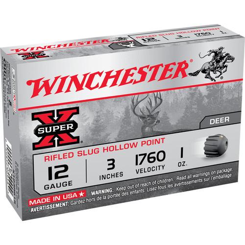 Winchester Ammo X123RS15 SuperX Rifled Slug Hollow Point 12 Gauge 3 1 oz 5 Box