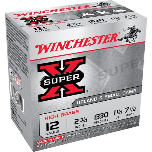 Winchester Ammo X127 SuperX High Brass 12 Gauge 2.75 1 14 oz 7.5 Shot 25 Box