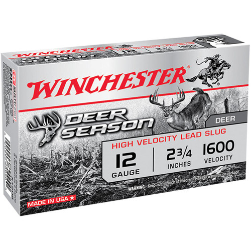 Winchester Ammo X12DS Deer Season High Velocity 12 Gauge 2.75 1 14 oz 5 Box