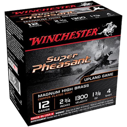 Winchester Ammo X12PH4 Super Pheasant Magnum High Brass 12 Gauge 2.75 1 38 oz 4 Shot 25 Box