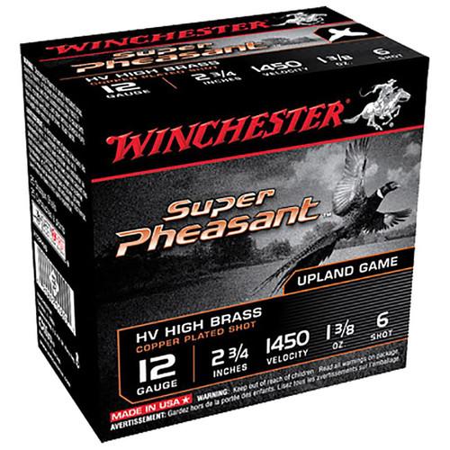 Winchester Ammo X12PHV6 Super Pheasant HV High Brass 12 Gauge 2.75 1 38 oz 6 Shot 25 Box