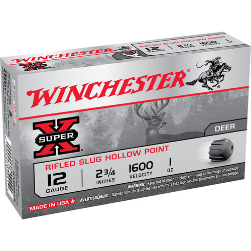 Winchester Ammo X12RS15 SuperX Rifled Slug Hollow Point 12 Gauge 2.75 1 oz 5 Box