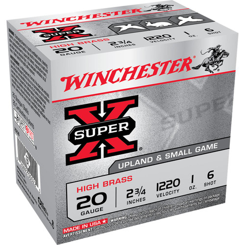 Winchester Ammo X206 SuperX High Brass 20 Gauge 2.75 1 oz 6 Shot 25 Box