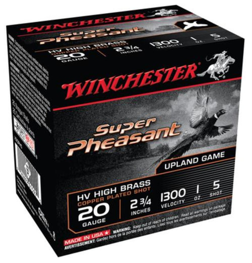 Winchester Ammo X20PH5 Super Pheasant Magnum High Brass 20 Gauge 2.75 1 oz 5 Shot 25 Box