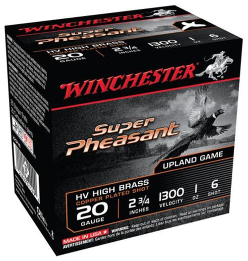 Winchester Ammo X20PH6 Super Pheasant Magnum High Brass 20 Gauge 2.75 1 oz 6 Shot 25 Box