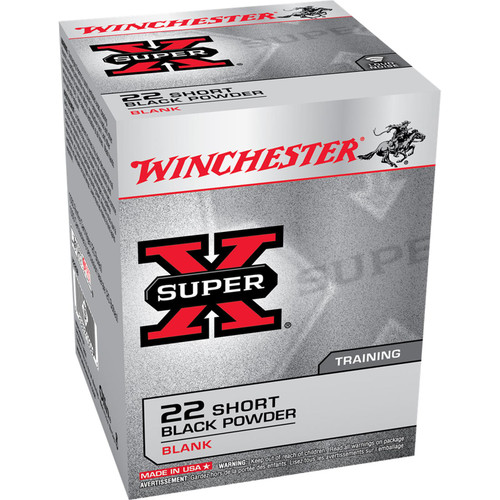 Winchester Ammo X22SB SuperX Black Powder Blank 22 Short 50 Box