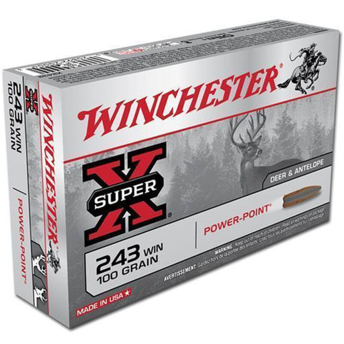 Winchester Ammo X2432 SuperX 243 Winchester 100 GR PowerPoint PP 20 Box