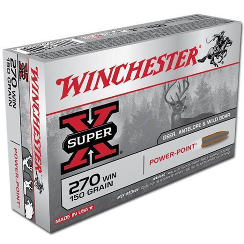 Winchester Ammo X2704 SuperX 270 Winchester 150 GR PowerPoint PP 20 Box