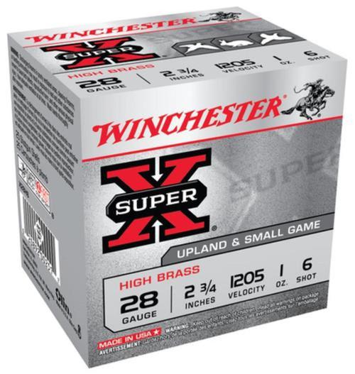 Winchester Ammo X28H6 SuperX High Brass 28 Gauge 2.75 1 oz 6 Shot 25 Box
