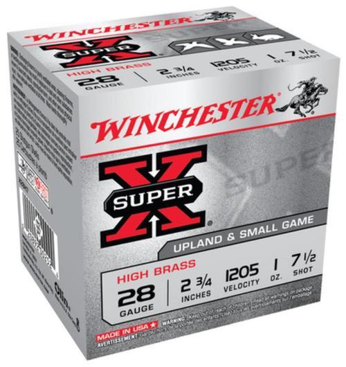 Winchester Ammo X28H7 SuperX High Brass 28 Gauge 2.75 1 oz 7.5 Shot 25 Box