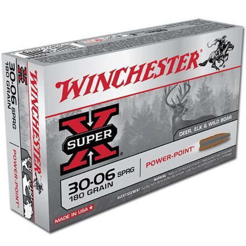 Winchester Ammo X30064 SuperX 3006 Springfield 180 GR PowerPoint PP 20 Box
