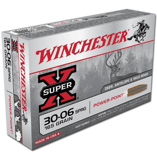 Winchester Ammo X30065 SuperX 3006 Springfield 165 GR PowerPoint PP 20 Box
