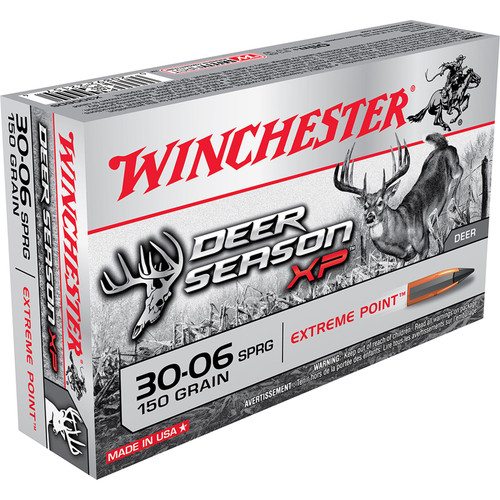 Winchester Ammo X3006DS Deer Season XP 3006 Springfield 150 GR Extreme Point 20 Box
