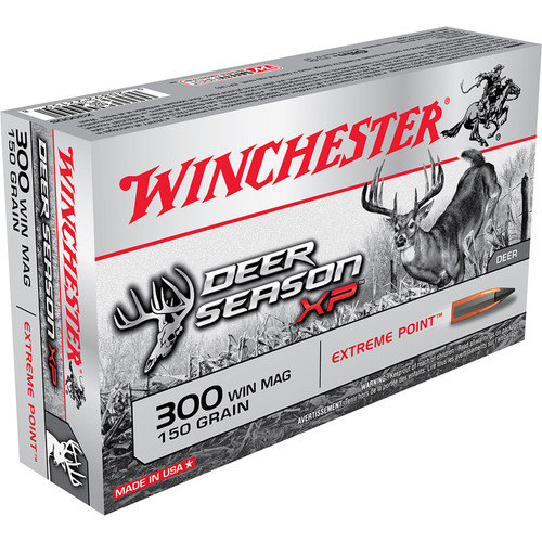 Winchester Ammo X300DS Deer Season XP 300 Win Mag 150 GR Extreme Point 20 Box