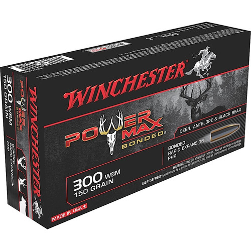 Winchester Ammo X300SBP Power Max Bonded 300 WSM 150 GR Protected Hollow Point 20 Box