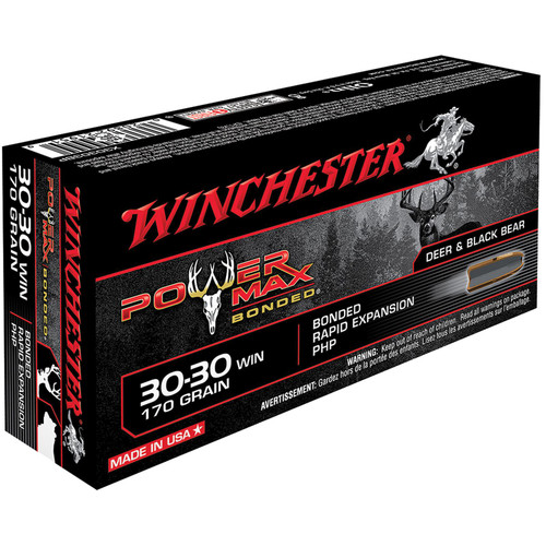 Winchester Ammo X30303BP Power Max Bonded 3030 Winchester 170 GR Protected Hollow Point 20 Box