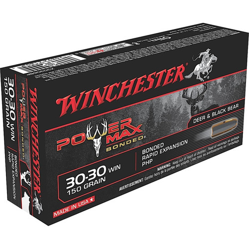 Winchester Ammo X30306BP Power Max Bonded 3030 Winchester 150 GR Protected Hollow Point 20 Box
