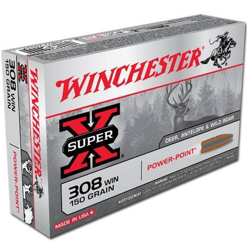 Winchester Ammo X3085 SuperX 308 Winchester 150 GR PowerPoint PP 20 Box