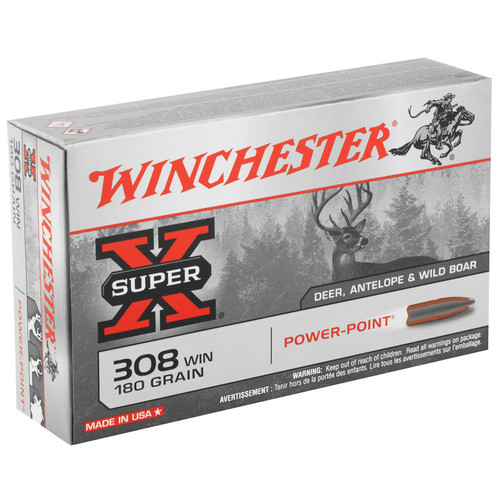 Winchester Ammo X3086 SuperX 308 Winchester 180 GR PowerPoint PP 20 Box