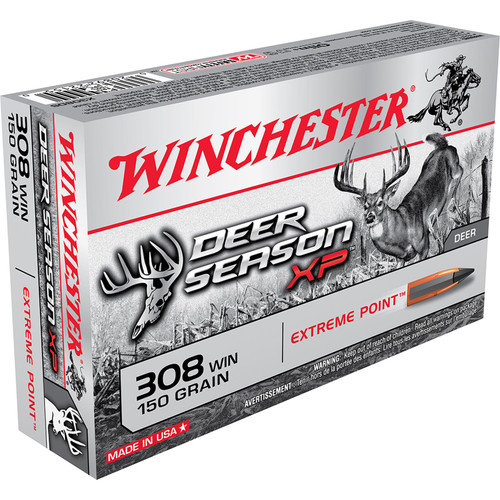 Winchester Ammo X308DS Deer Season XP 308 Winchester 150 GR Extreme Point 20 Box