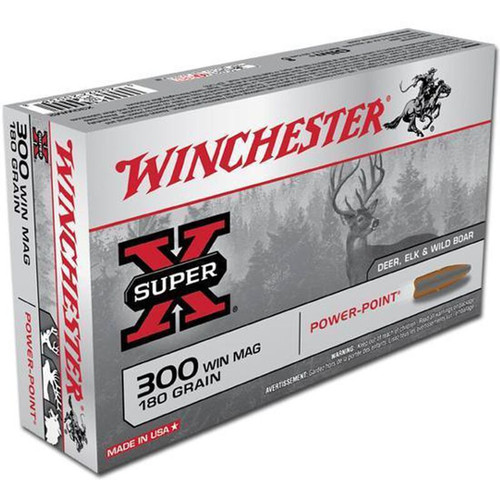Winchester X30WM2 SuperX 300WM 180 GR Power Point 20 Rounds