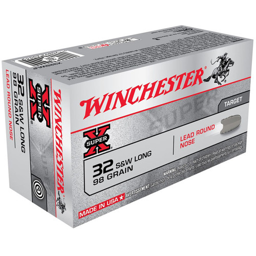Winchester Ammo X32SWLP SuperX 32 SW Long 98 GR Lead Round Nose LDRN 50 Box