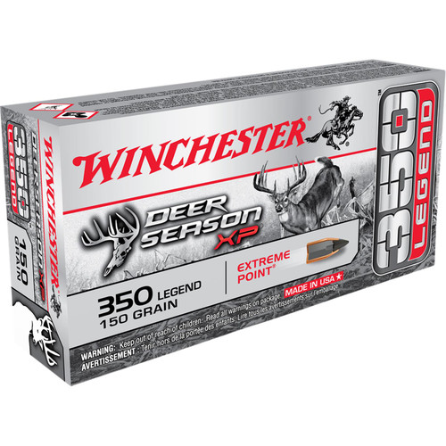 Winchester Ammo X350DS Deer Season XP 350 Legend 150 GR Extreme Point 20 Box