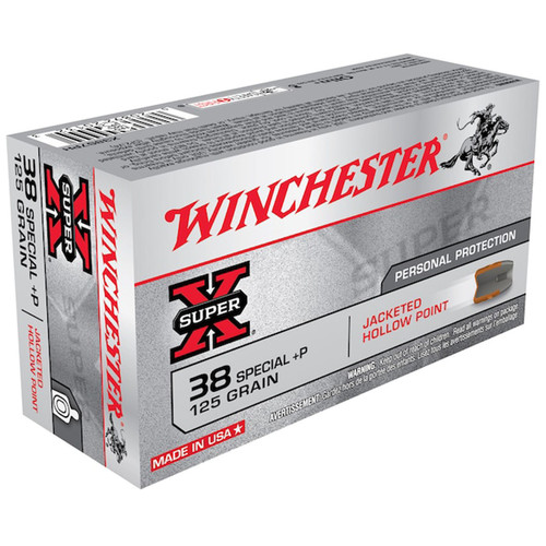 Winchester X38S7PH SuperX 38 Special P 125 GR JHP 50 Rounds
