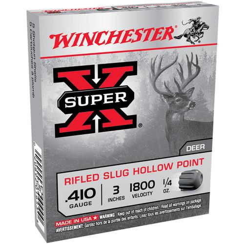 Winchester Ammo X413RS5 SuperX 410 Gauge 3 14 oz Sabot Slug Shot 5 Box