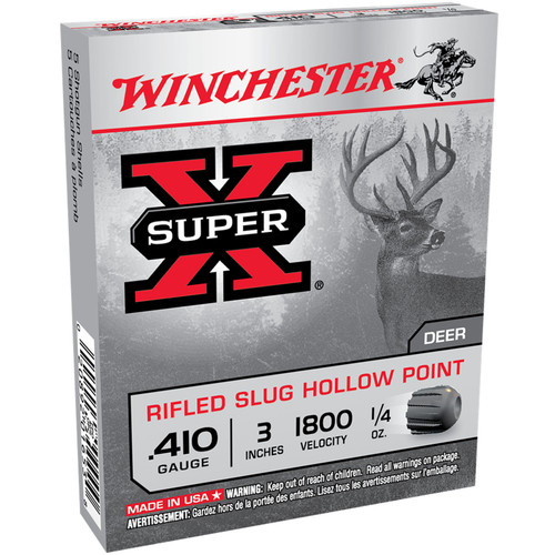 Winchester Ammo X413RS5 SuperX 410 Gauge 3 14 oz Sabot Slug Shot 5 Box