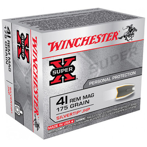 Winchester X41MSTHP2 SuperX 41 Rem Mag 175 GR STHP 20 Rounds