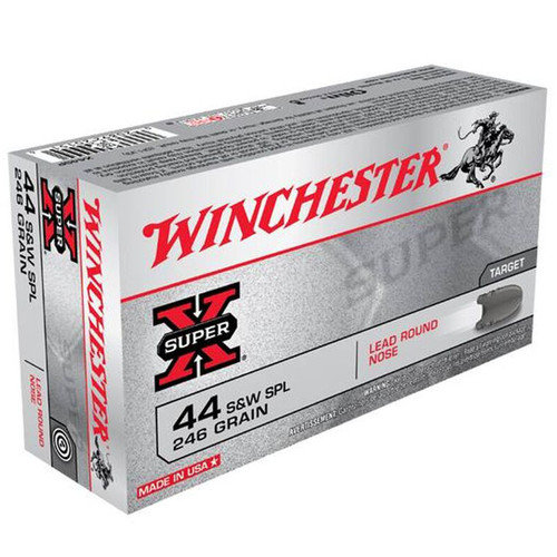 Winchester Ammo X44SP SuperX 44 Special 246 GR Lead Round Nose LDRN 50 Box