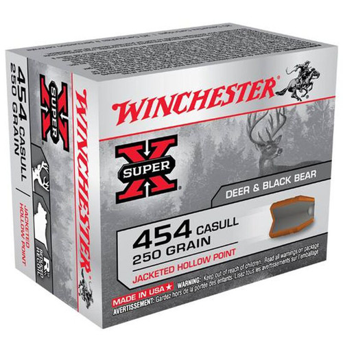 Winchester Ammo X454C3 SuperX 454 Casull 250 GR Jacketed Hollow Point JHP 20 Box