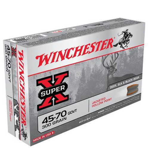 Winchester Ammo X4570H SuperX 4570 Government 300 GR Jacketed Hollow Point JHP 20 Box