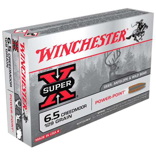 Winchester Ammo X651 SuperX 6.5 Creedmoor 129 GR PowerPoint PP 20 Box