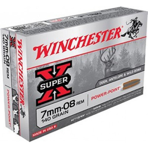 Winchester Ammo X708 SuperX 7mm08 Remington 140 GR PowerPoint PP 20 Box