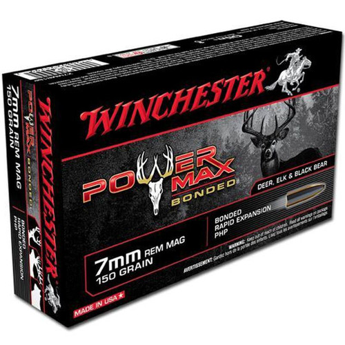 Winchester Ammo X7MMR1BP Power Max Bonded 7mm Rem Mag 150 GR Protected Hollow Point 20 Box