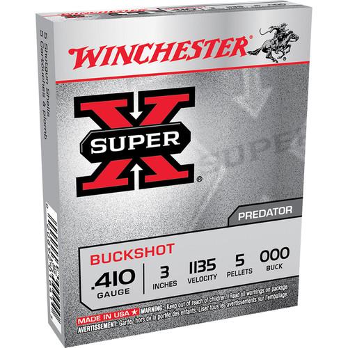 Winchester Ammo XB413 SuperX 410 Gauge 3 5 Pellets 000 Buck Shot 5 Box