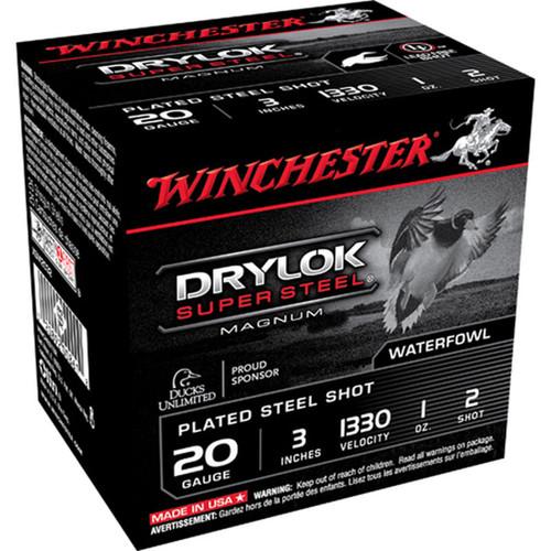 Winchester Ammo XSM2032 Drylock Super Steel Magnum 20 Gauge 3 1 oz 2 Shot 25 Box