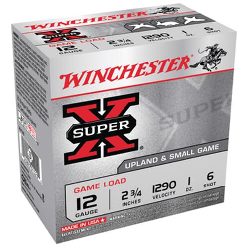 Winchester Ammo XU126 SuperX Game Load 12 Gauge 2.75 1 oz 6 Shot 25 Box