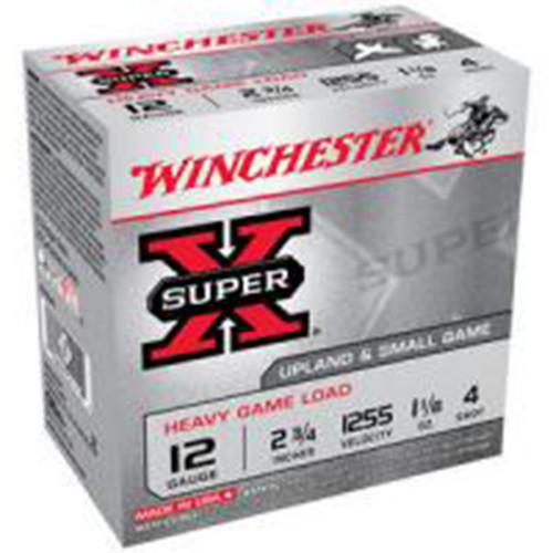 Winchester Ammo XU12H4 SuperX Heavy Game Load 12 Gauge 2.75 1 18 oz 4 Shot 25 Box