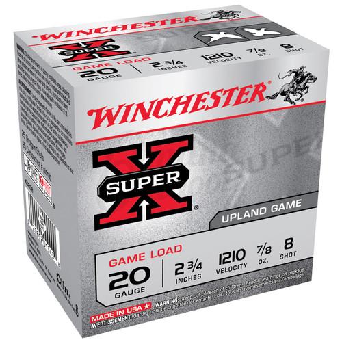 Winchester Ammo XU208 SuperX Game Load 20 Gauge 2.75 78 oz 8 Shot 25 Box