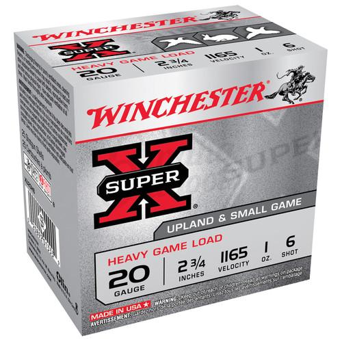 "Winchester XU20H6 SuperX Game Load 20 Gauge 2.75"" 1 oz 6 Shot 25 Rounds"