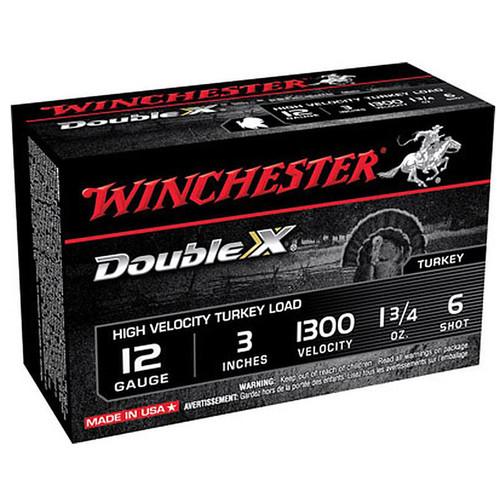 "Winchester Double X Turkey Load 12 ga 3"" MAX 1 3/4 oz #6 1300 fps"