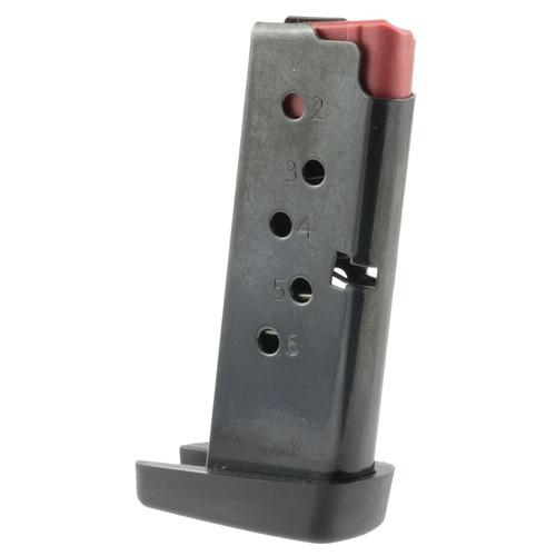 C Products Defense Inc 6X38141208TC DURAMAG Handgun Taurus TCP 380 ACP 6 Round Steel Black Finish with Red Follower Magazine