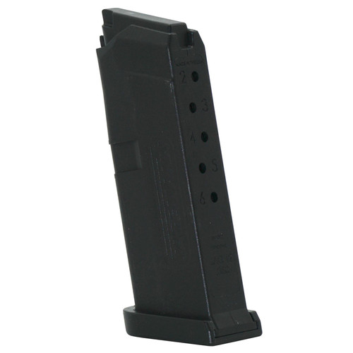 Jagemann Jag 42 Compatible with Glock G42 380 Automatic Colt Pistol (ACP) 6 Round Polymer Black Finish Magazine